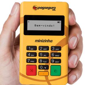 Minizinha PagSeguro   Maquina de Cartões Amarelinha Compatível com Android
